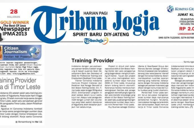 Training Provider Jogja di Timor Leste
